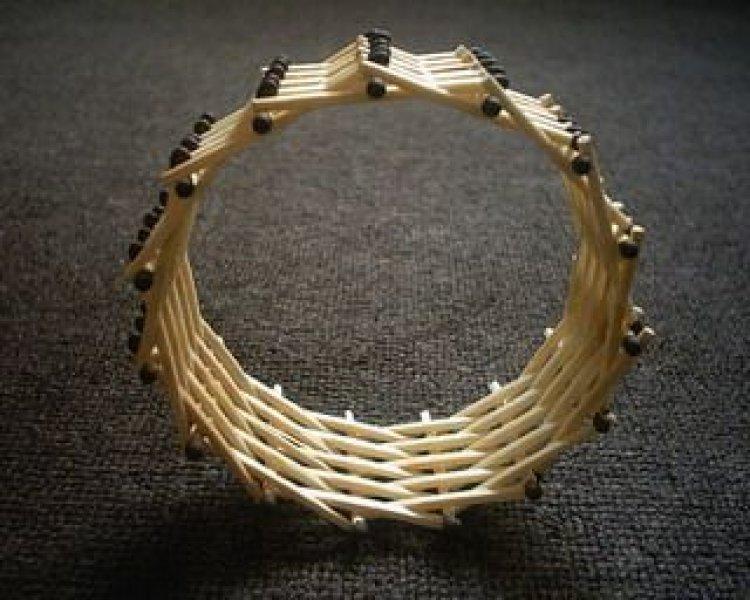 Колесо из спичек без клея