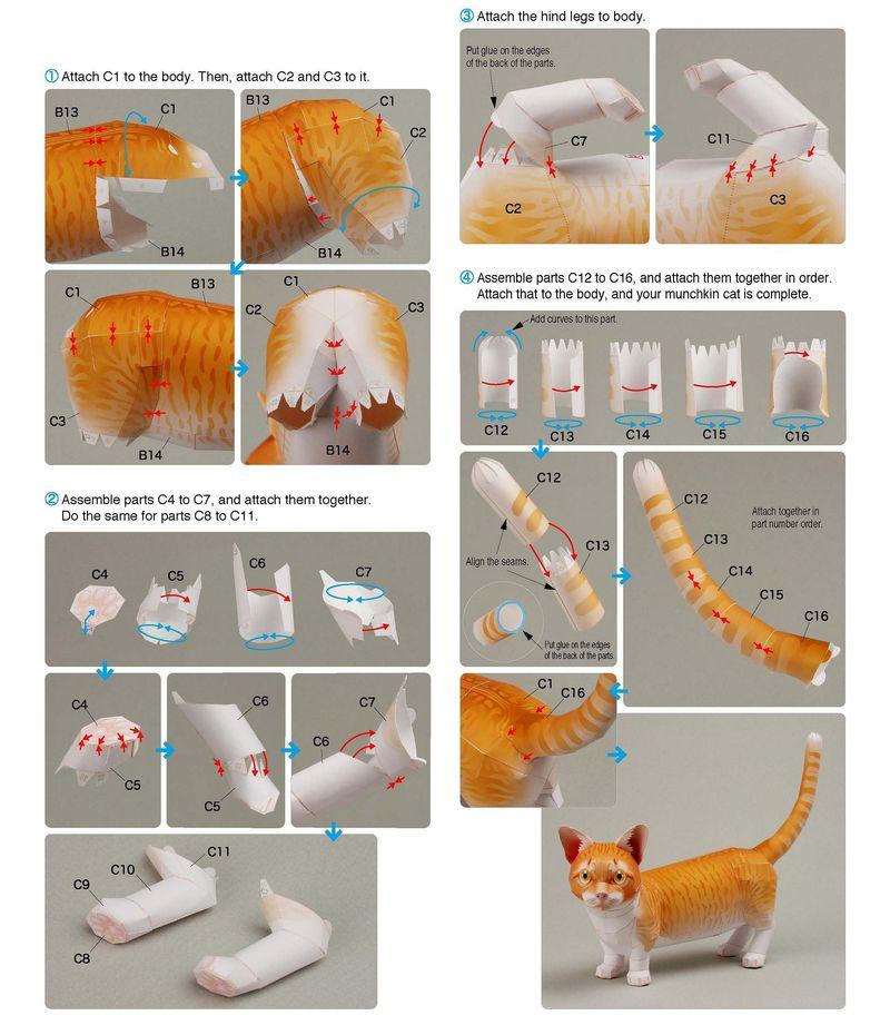 Как сделать игрушку из бумаги для котёнка