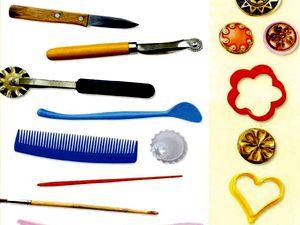 инструменты для лепки из теста, солёное тесто