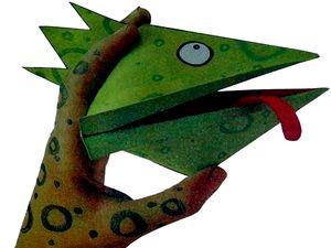 Оригами смешная голова дракона
