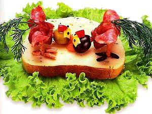 Бутерброд Петушиные бои, весёлые рецепты, учимся готовить, простые рецепты, кулинарные хитрости, готовить - просто, вкусные рецепты