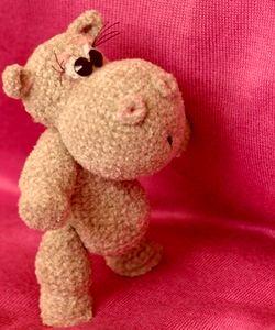 Мягкая игрушка Бегемот - вязание крючком