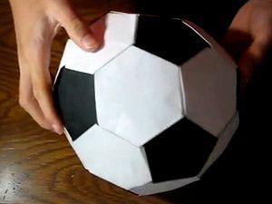 Футбольный мяч из модулей оригами, модульное оригами, оригами из модулей, как сделать мяч из бумаги