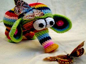 Мягкая игрушка Слон. Вязание крючком. Как связать слона крючком