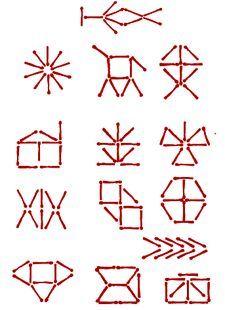 Игра - Фигуры из спичек, игры со спичками, игры для детей, развивающие игры, логические игры