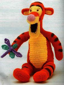 Мягкая игрушка Тигра, мягкие игрушки своими руками, вязание крючком