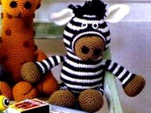 Мягкая игрушка Зебра - вязание крючком, игрушки крючком, поделки своими руками, рукоделие