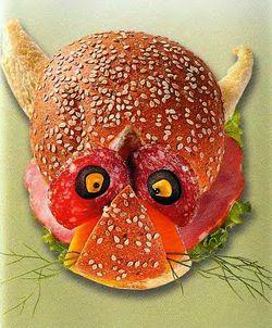 Веселый бутерброд Леопард, бутерброды для детей,  бутерброды животные,  быстро и вкусно,  быстро приготовить,  весёлые бутерброды, готовимся к Новому Году 2011, как украсить стол,  рецепты бутербродов,  смешные бутерброды, праздничные рецепты, праздничные бутерброды, оригинальные рецепты
