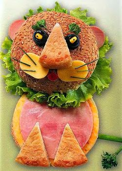 Рецепт бутерброда - Львенок, веселые рецепты, вкусно и быстро, учимся готовить, детские бутерброды, бутерброды для детей, смешные бутерброды, бутерброды зверята, бутерброд Лев