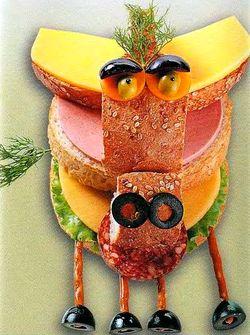 Веселые бутерброды - Лошадка, рецепты бутербродов, бутерброды для детей, как приготовить, учимся готовить, смешные бутерброды, прикольные бутерброды, бутерброды зверята, бутерброды мордочки зверей, готовимся к Новому Году