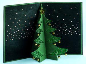 Pop up открытка рождественская елочка, открытки к рождеству своими руками, как сделать объемную открытку, киригами скачать, киригами схемы, киригами выкройки, киригами открытки, готовимся к Рождеству, елка на Рождество из бумаги