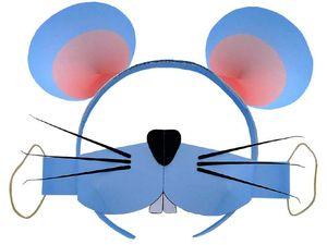 Карнавальная маска Мышка из бумаги, карнавальный костюм своими руками, как сделать карнавальную маску, поделки из бумаги, игрушки из бумаги, маска мышь к празднику своими руками