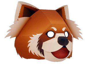 Карнавальная маска Панда своими руками, paper craft, паперкрафт, игрушки из бумаги, маски зверей своими руками, карнавальные маски из бумаги, Новый Год 2011, готовимся к празднику, выкройка карнавальной маски