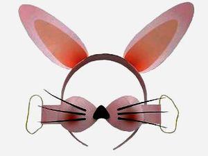 Карнавальная маска Кролик-Заяц своими руками. Готовимся к Новому Году! паперкрафт, paper craft, карнавальная маска из бумаги, как сделать карнавальную маску, символ 2011 года кролик