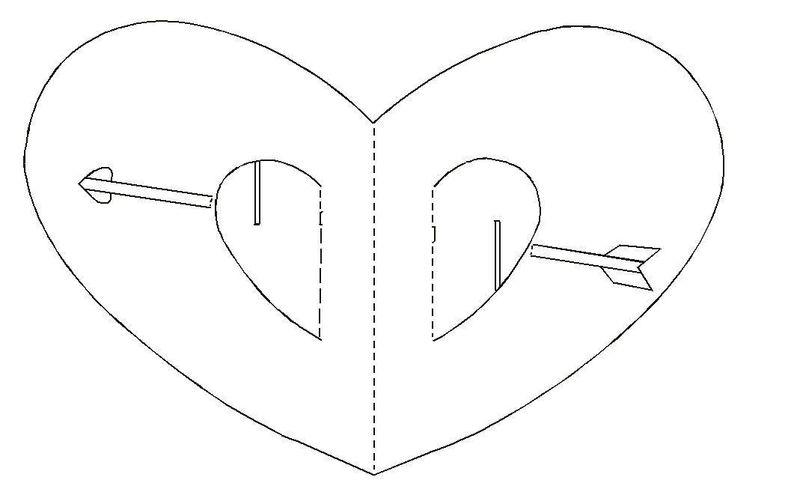 Киригами. Открытка Сердце. Как