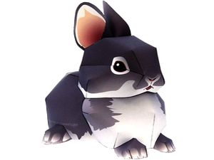 Заяц-кролик из бумаги, игрушки из бумаги, паперкрафт, paper craft, модели из бумаги, моделирование из бумаги, животные из бумаги, как склеить кролика из бумаги