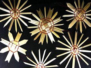 Новогоднее украшение на елку - звезда, игрушки своими руками, новогодние игрушки своими руками, поделки из соломы, что можно сделать из соломы, поделки из соломы видео