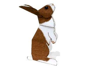 Кролик из бумаги. Paper Craft, выкройка кролика из бумаги, выкройка зайца из бумаги, бумажный кролик, символ 2011, готовимся к Новому году