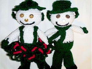 Снеговик - вяжем крючком, вязание крючком, как связать снеговика, готовимся к Новому Году, веселый снеговик своими руками, азбука вязания крючком