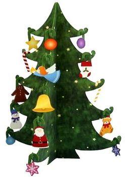Новогодняя Ёлка из бумаги своими руками, как сделать елку из бумаги, Новый Год, Рождество, поделки из бумаги, выкройки из бумаги, подарки к празднику своими руками