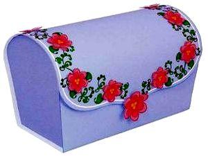 Коробка для подарка своими руками, как сделать коробку из бумаги, Новый Год 2011, Рождество, сундук из бумаги, паперкрафт, киригами, коробка для конфет своими руками, поделки из бумаги, оригами