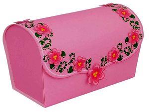 Сундук сокровищ из бумаги. Коробка для подарка. Как сделать коробку для подарка, как сделать коробку из бумаги к празднику, Новый Год 2011, Рождество, паперкрафт, papercraft, поделки из бумаги к празднику