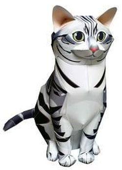 Паперкрафт - поделки из бумаги. Британский кот, как сделать кота из бумаги, как сделать кошку из бумаги, papercraft, поделки своими руками, бумажный кот, выкройки поделок из бумаги бесплатно