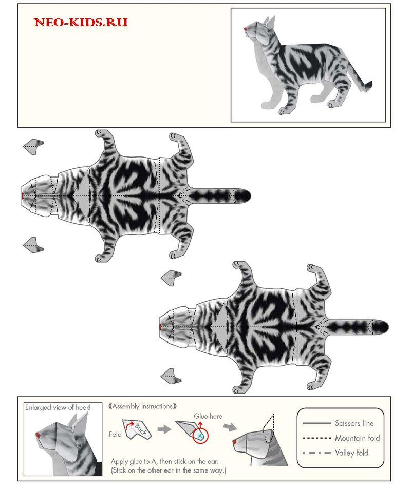 Поделки из бумаги животных