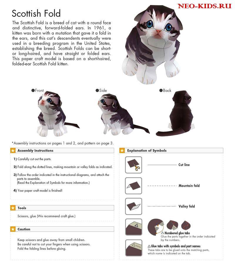 Котёнок из бумаги своими руками, поделки из бумаги, поделки своими руками, идеи оригинальных подарков, моделирование из бумаги, выкройки животных из бумаги, как сделать котенка из бумаги, как сделать кота из бумаги