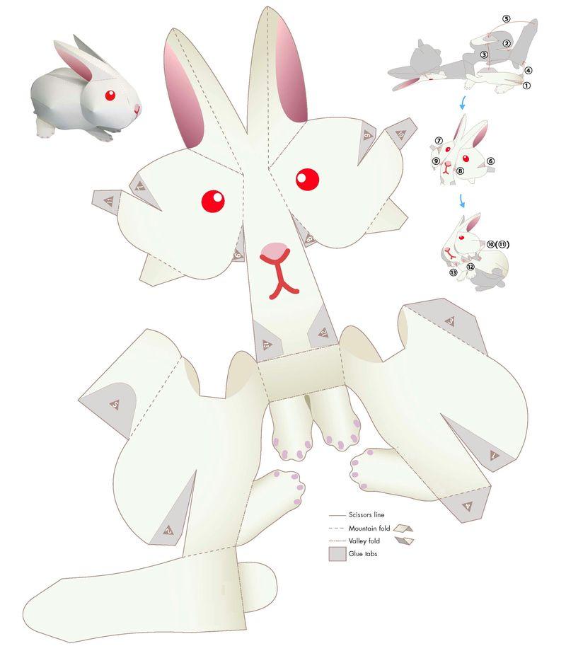 Как сделать игрушки животные из бумаги