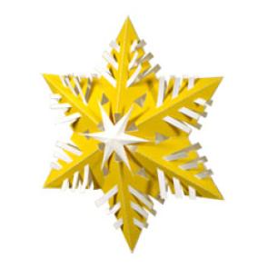 Снежинка из бумаги. Киригами, папрекрафт, как вырезать снежинку, как сделать объемную снежинку из бумаги, елочные украшения из бумаги своими руками, 3D снежинка на елку, поделки из бумаги, Новый Год