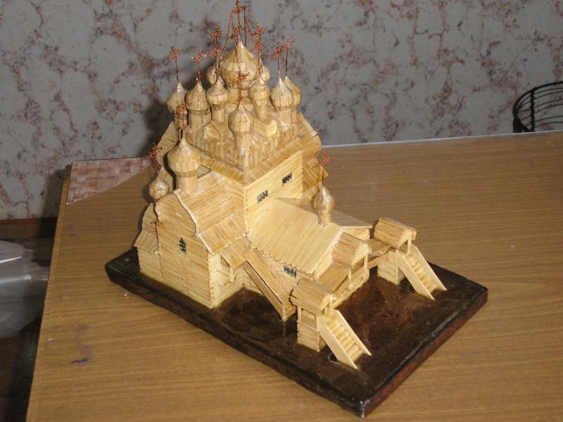 Церковь из спичек, церковь из зубочисток, поделки из спичек, поделки из зубочисток, моделирование из спичек, моделирование из зубочисток, как сделать модель из зубочисток, как сделать модель из спичек