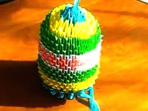 Пасхальное яйцо - модульное оригами, модульное оригами, пасхальное яйцо из бумаги, как сделать яйцо из бумаги, пасха, поделки из бумаги, как сделать модуль оригами, как сделать модульное оригами, оригами видео, поделки своими руками