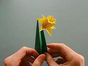 Оригами - Цветок Нарцисс