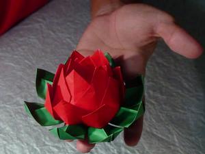 Оригами - Цветок Лотос