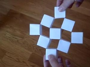 Оригами - Движущиеся кубы