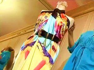как сделать платье за пять минут, как сшить вечернее платье, парео, платье за 5 минут, платье из куска шелка, платье из парео, платье из платка, платье своими руками, поделки своими руками, учимся делать фокусы, учимся шить, фокусы