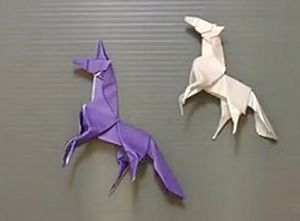 Символ Нового Года 2014 - Лошадь. Оригами лошадь