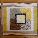Рисунки крупой - как рисовать рисом, манкой, гречкой, пшеном, горохом.