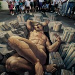 Уличная живопись - рисунки на асфальте